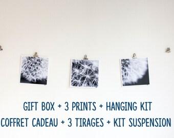 Gift box + 3 prints + DIY hanging kit