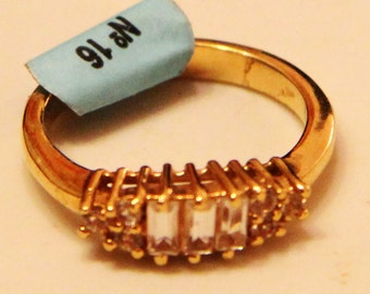 18k Gold Plated Ring with zircons