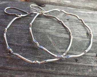 Sterling Silver Earrings Hoop Earrings Handmade Wild Prairie Silver Joy Kruse