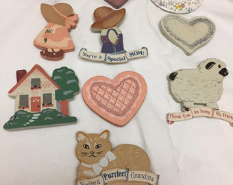 lot of 10 vintage 1980s  1990s country magnets