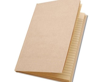 Kraft Journal with lined brown paper inside (50 sheets)! Perfect for covering or Painting!!