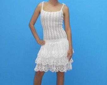 SALE - 30%!!!  Women's dress, Summer dress, Crochet dress, Sexy dress, Dress with strups