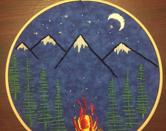 Hand Embroidery, PDF File: Campfire