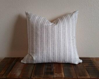 "Black & cream pillow cover 18""x18"" black and ivory Throw Pillow Cover, Accent Pillow Cover, Pillow Cover, Modern pillow, urban, contemporary"