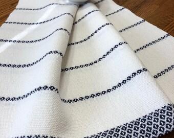 Tea Towel Handwoven, GOTS Certified Organic Yarn, Hand Woven Kitchen Towel, Handwoven Dish Towel, Artisan Hand Woven, Hostess Gift Towel