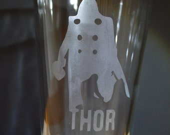 Superhero Thor Homemade Hand Etched Tumbler A Must Have!!