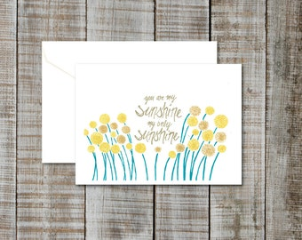 Set of 6 Greeting cards, mix and match!