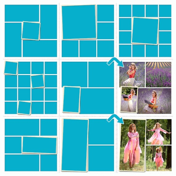 Storyboard Set Of  Collage Template Psd X Photo Collage