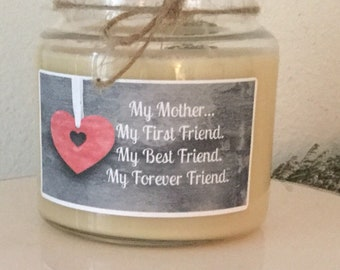 Gift/Birthday/mom/mother/16 oz/candle /soy/scented/jewelry/charm