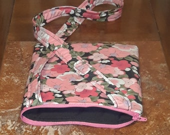 Pink Flowers-Child Crossbody