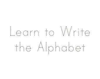 Alphabet tracing workbook digital printable PDF trace abc worksheets