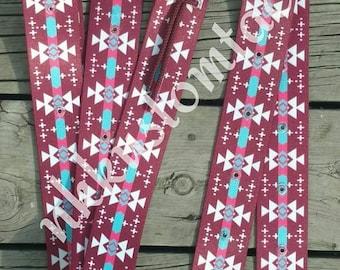 Krazy Kolorz Exclusive saddle cinch strap sets, includes latigo and off billet