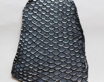 Large silver TILAPIA skin blue Pelland