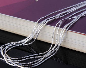 Free Shipping* - 10 pcs Silver Plated Necklace Link Chain with Lobster Clasp Wholesale Price  (SSS1014)