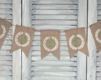 Burlap St. Patrick's day Lucky banner