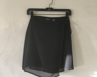 Sheer mini wrap skirt by The Limited