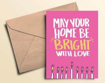 Bright With Love Hanukkah Cards