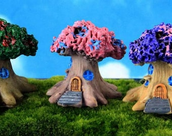 Cottage Tree House - You CHOOSE - Miniature Garden Plants Terrarium Doll House Ornament Fairy Decoration CT3818