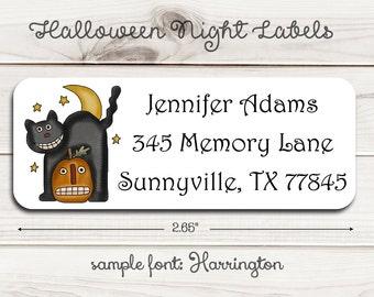 Halloween Night Return Address Labels