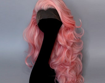 Pink Strawberry Ice Cream - Lace Front Wig