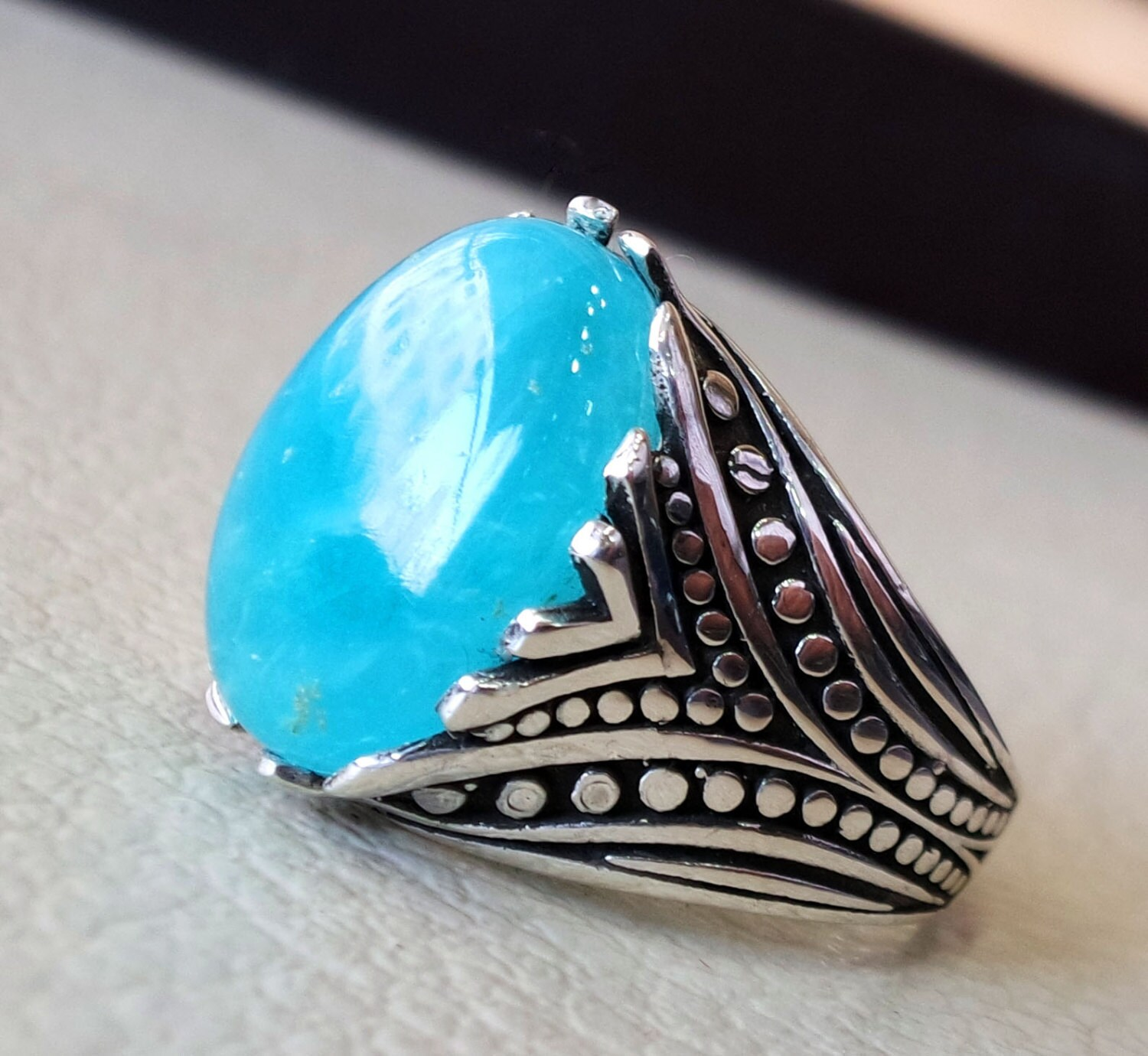 men rings any size sterling ring eye stone stunning ottoman turkey silver arabic tiger sam style and blue jewelry products handmade