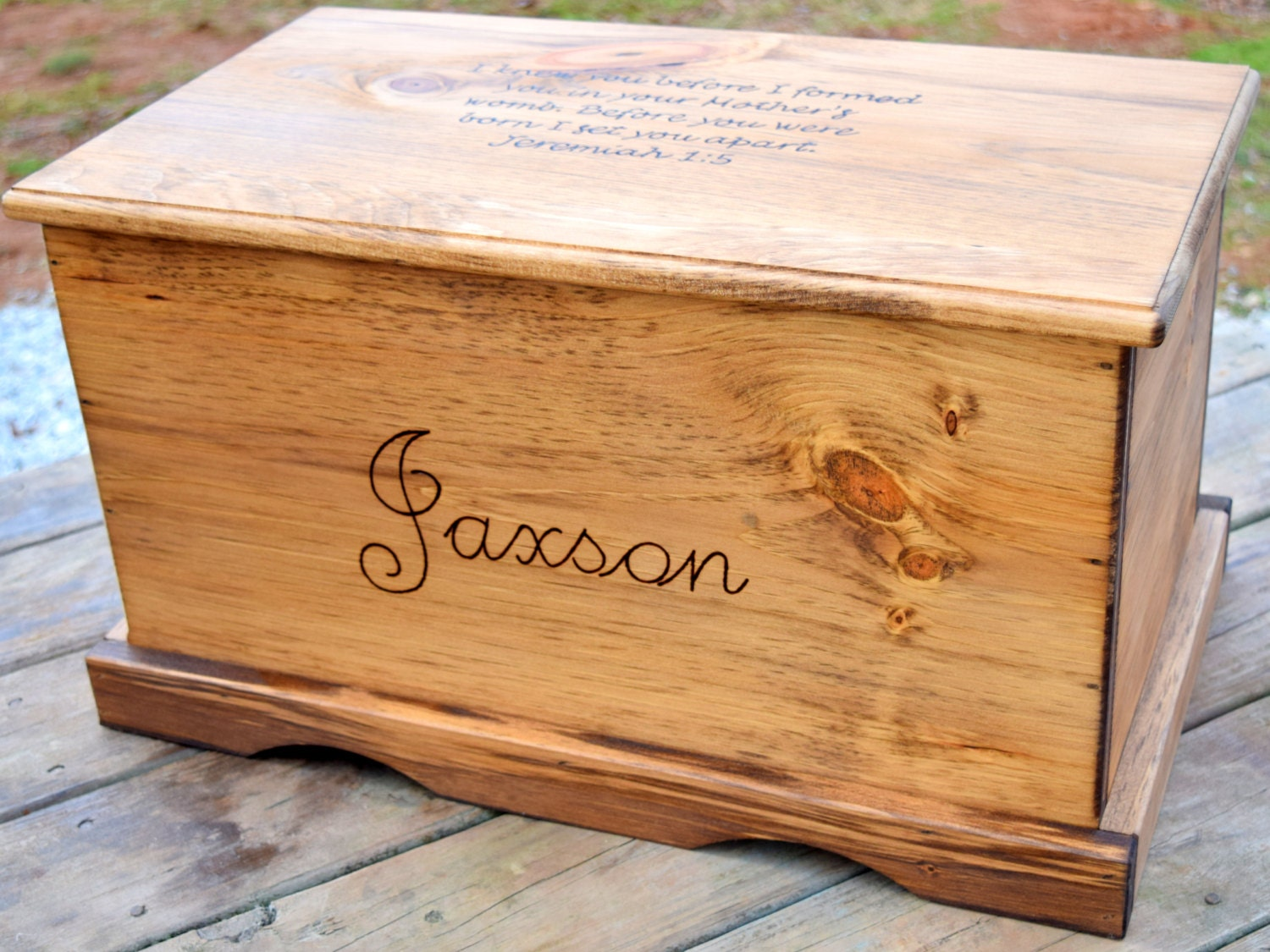 Perfect Large Kids Toy Chest Wooden Chest Keepsake Box Memory OC63