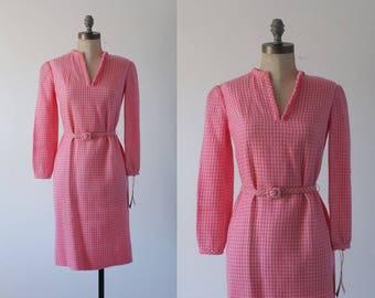Strawberry Shortcake dress | vintage pink and white Lanz dress | 1960s dress | vintage pink 60s dress | small / medium