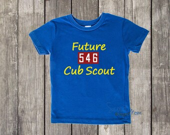 Future Cub Scout   Personalized with your Pack Number   Baby Toddler Preschooler Shirt