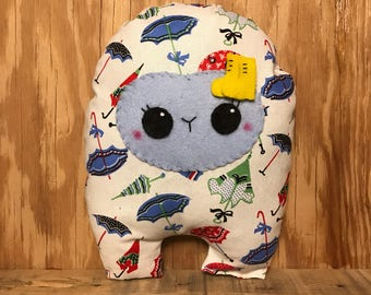 Umbrella Huggle | Cute Monster Plush, Cute Stuffed Toy, Stuffed Animal, Handmade Plush Toy