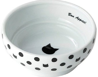 From Japan Nekoichi Ceramic Cat Food Bowl