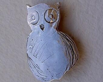 Broche buho mediano/Owl brooch