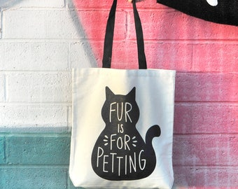 Tote Bag Black Cat Activism Farmers Market Record Bag