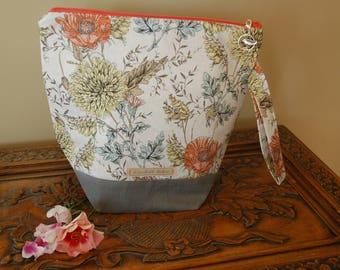 Poppies Etc, Knitting Project Bag, Medium