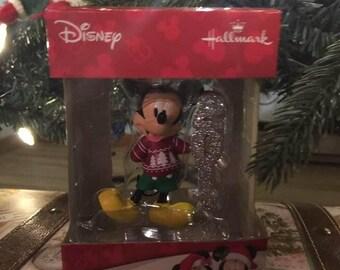 Hallmark Disney Mickey Mouse 2017 Dated Christmas Tree Ornament Red Holiday Sweater NIB