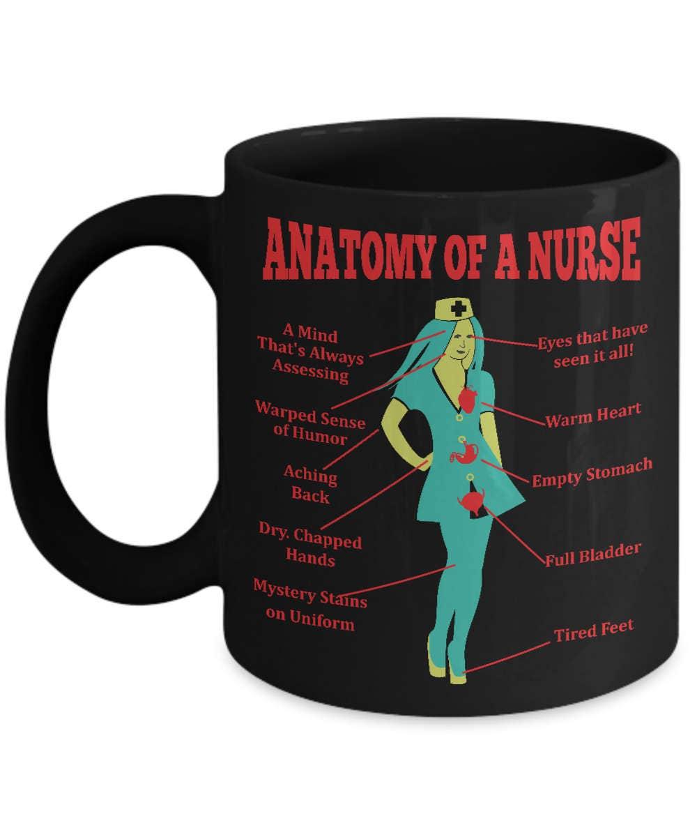 Anatomía de una enfermera divertido regalo enfermera