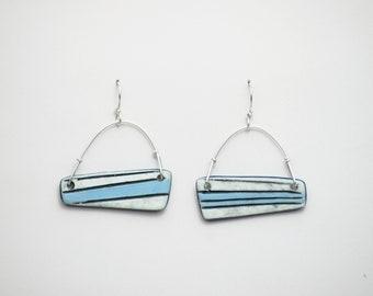 Porcelain Earrings. Ceramic Earrings. Dangle Earrings. Wearable Art.
