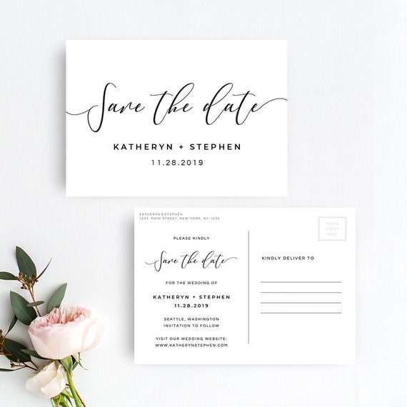Save The Date Postcard Printable Template Save The Date