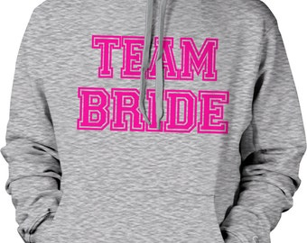 Pink Team Bride, Bachelorette Party, Wedding Hooded Sweatshirt, NOFO_00364