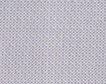 Tissu coton à tout petits motifs gris et blancs
