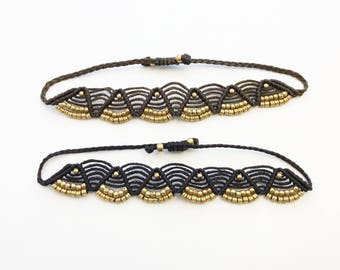 Macrame bracelet, adjustable bracelet, gypsy boho bracelet, handmade bracelet, bohemian jewellery, adornments