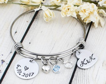 Wedding Bracelet for Women - Bride Gift - Wedding Gift for Bride from Maid of Honor - Bridal Shower Gift - Wedding Date Bracelet for Bride