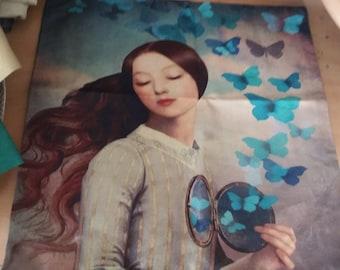 Butterfly enchantress canvas pillow