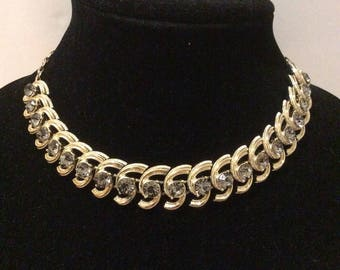 Coro Rhinestone Choker Necklace