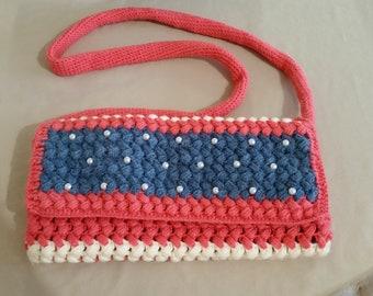 Handbag - Crochet, beaded