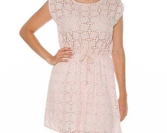 Pink dress, pink draught dress, summer dress, woman dress, pink dress, summer dress, short dress