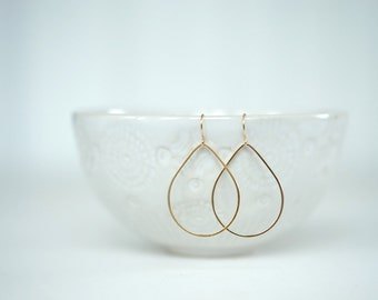 Glossy Gold Teardrop Earrings