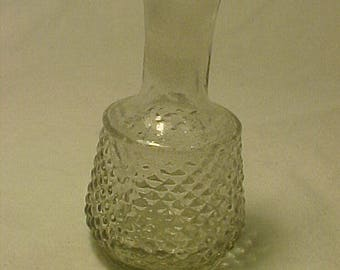 c1870s Fancy French Pontiled Glass Victorian Perfume Cologne bottle Hobnail