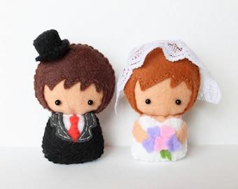Patterns: Felt Groom and Bride Dolls