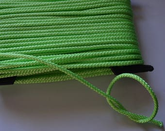 Neon 3 mm neon green polyester cord