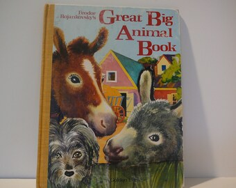The Great Big Animal Book, 1982, Feodor Rojankovsky, vintage kids book
